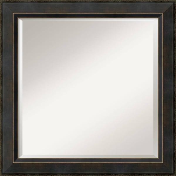 Wall Mirror Square, Signore Bronze 25 x 25-inch - Espresso