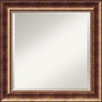 Wall Mirror Square, Manhattan Bronze 26 x 26-inch
