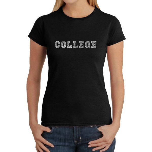 Los Angeles Pop Art Women's College T-Shirt