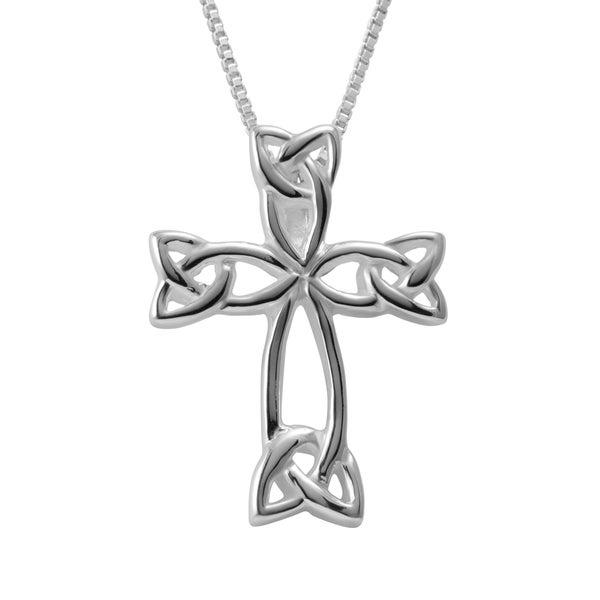 Shop handmade sterling silver box chain necklace and celtic cross handmade sterling silver box chain necklace and celtic cross pendant thailand aloadofball Image collections