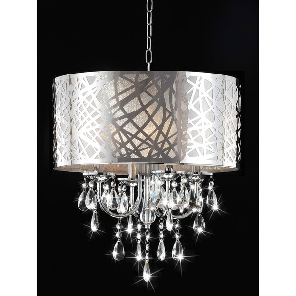 Shop 4-light Chrome Crystal Chandelier