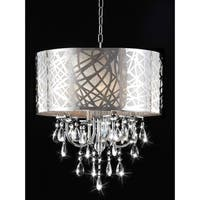 4-light Chrome Crystal Chandelier - Silver