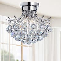 Clay Alder Home Jericho Indoor 3-light Chrome/ Crystal Chandelier