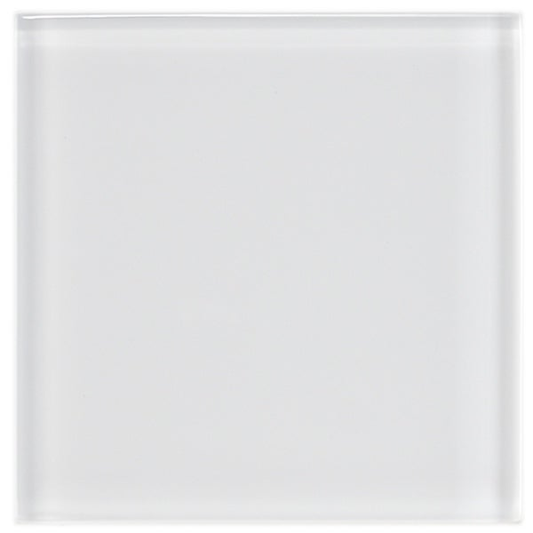 SomerTile 4x4-in Reflections Ice White Glass Tile (Case of 90)