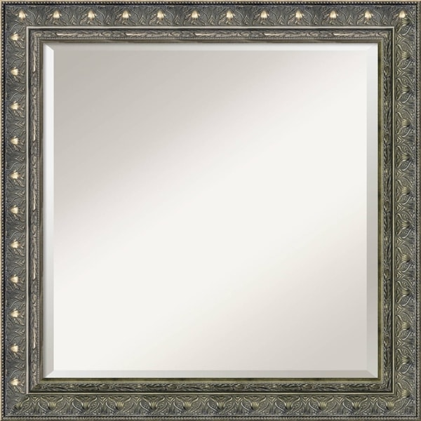 Wall Mirror Square, Barcelona Champagne 24 x 24-inch - Pewter