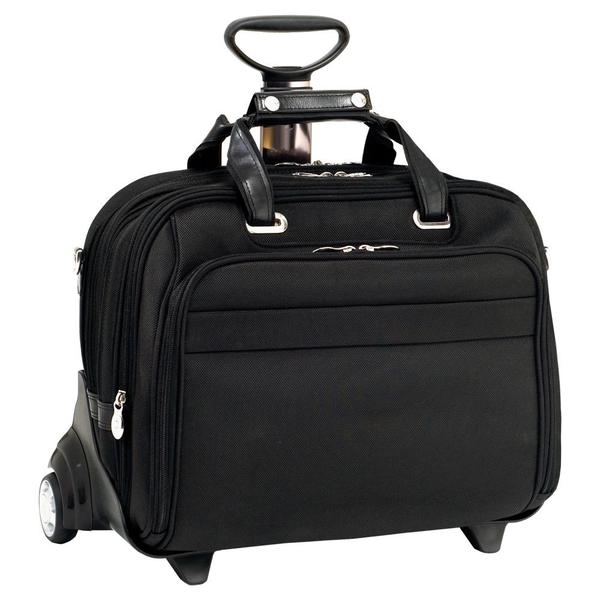 McKlein 'Midway' Nylon 17-inch Detachable Wheeled Laptop Bag