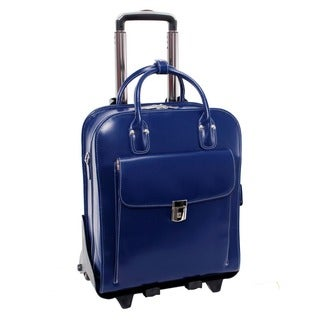McKlein La Grange Leather Vertical Detachable Rolling Laptop Case