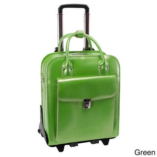 McKlein La Grange Leather Vertical Detachable Rolling Laptop Case
