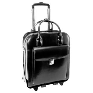 McKlein La Grange Leather Vertical Detachable Rolling Laptop Case (More options available)