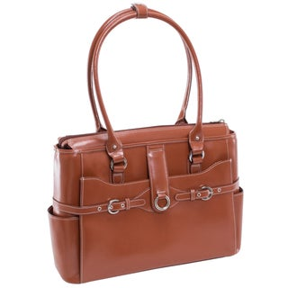 McKlein Women's Willow Springs Leather 15.4-inch Laptop Tote Bag