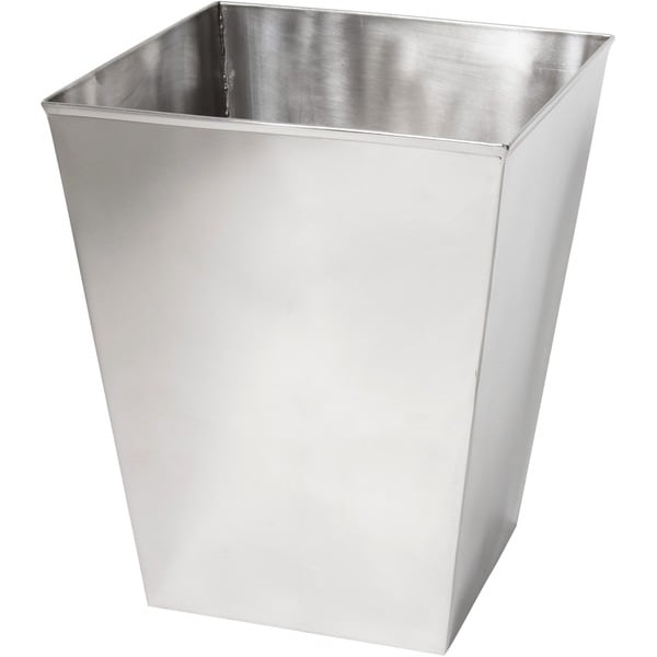 Stainless Steel Mirrored Wastebasket