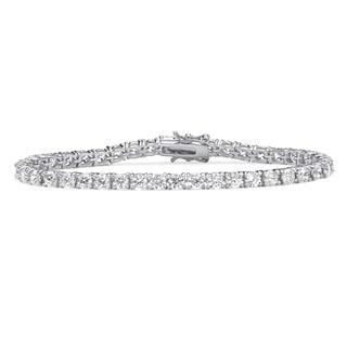 Link to Sterling Silver 4.5mm Round Cubic Zirconia Tennis Bracelet Similar Items in Bracelets