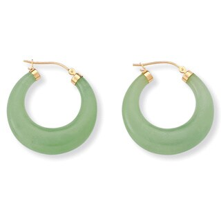 Jade 14k Yellow Gold Hoop Earrings Naturalist