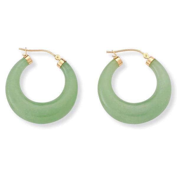 668891a2a Shop Jade 14k Yellow Gold Hoop Earrings Naturalist - On Sale - Free ...