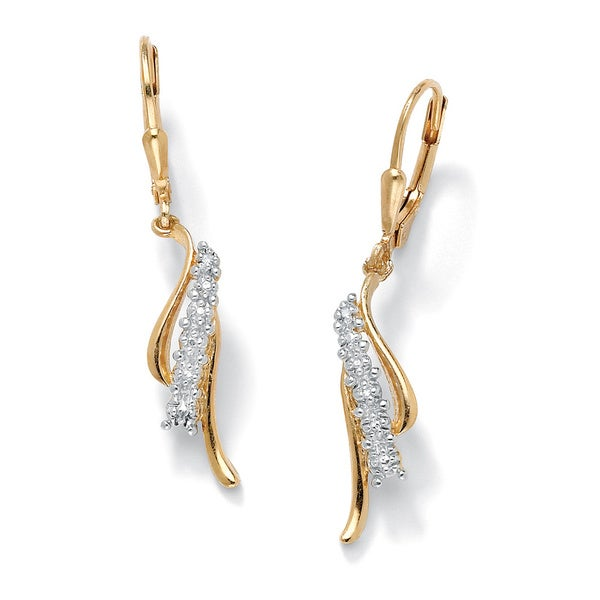 Diamond Accent Waterfall Earrings in 18k Gold over Sterling Silver