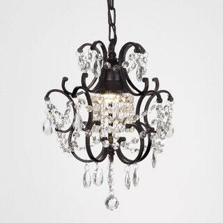 Mini chandeliers for less overstock laurel creek harper 1 light black crystal mini chandelier aloadofball Choice Image