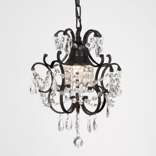 Gallery Versailles 1-light Black/ Crystal Mini Chandelier - Thumbnail 0