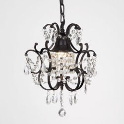 antique black 4 light round crystal chandelier 12645624 overstockcom shopping great deals on the lighting store chandeliers pendants black crystal chandelier lighting