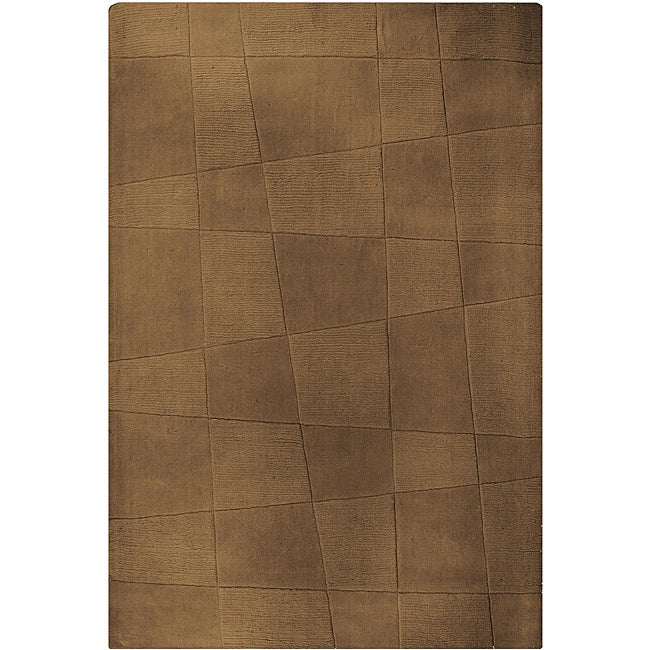 Hand-tufted Structure Geometric Rug (5' x 8')