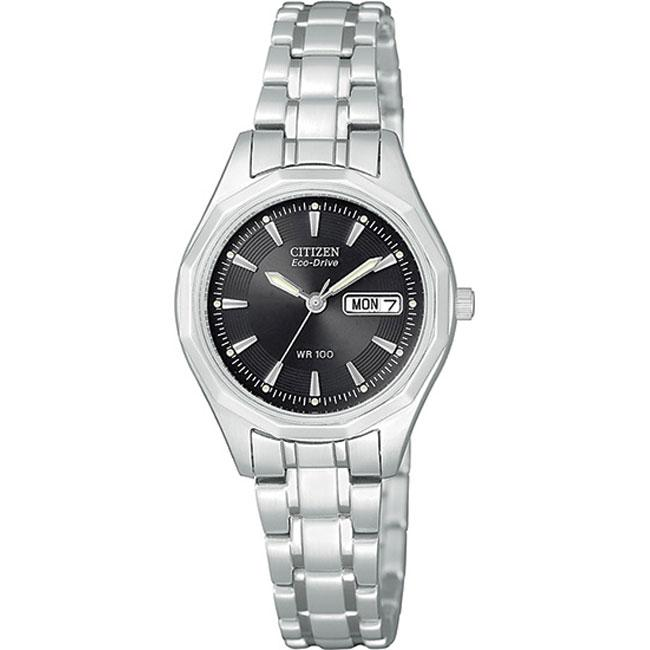 Shop Citizen Eco-drive Women s Black Dial Stainless Steel Watch - Free  Shipping Today - Overstock - 5247356 0fb4f37c76d3