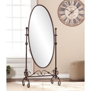 Preferred Linon Angelica 26 x 63-inch Metal Oval Cheval Mirror - Antique  ZS24