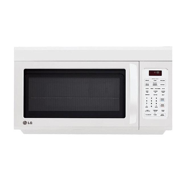 LG LMV1813SW Over-the-range 1.8-cu-ft 1100-watt Microwave Oven in White