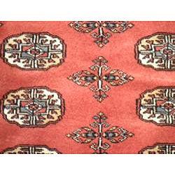 Pakistani Hand-knotted Rust/ Ivory Bokhara Wool Rug (3' x 5') - Thumbnail 1