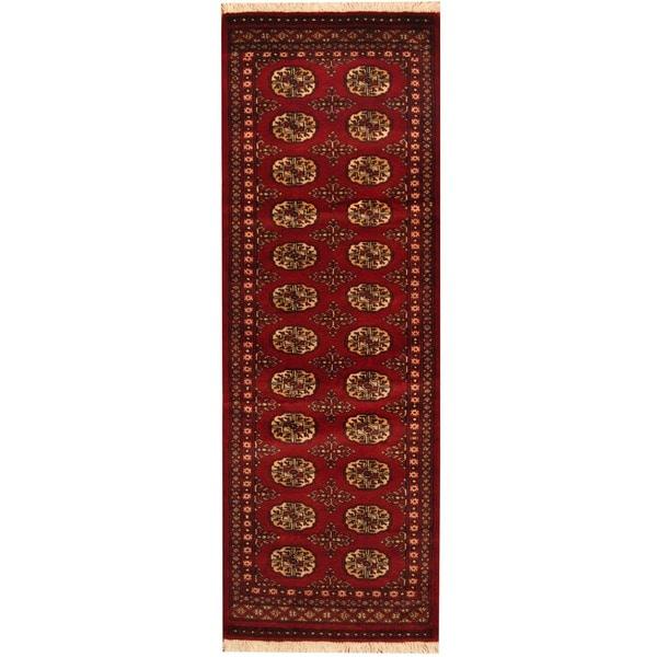 Herat Oriental Pakistan Hand-knotted Bokhara Wool Runner (2' x 6')