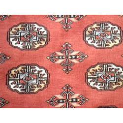 Pakistani Hand-knotted Rust/ Ivory Bokhara Wool Rug (4'x 6')