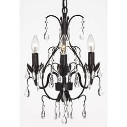 Mini chandeliers for less overstock gallery versailles three light black indoor crystal mini chandelier aloadofball Choice Image