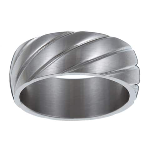 Sophisticated Kabella Men's Stainless-Steel Band Ring