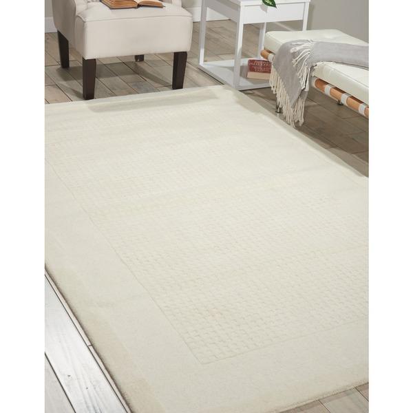 Nourison Westport Hand-tufted Ivory Wool Rug (8' x 10'6)