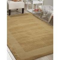 Nourison Westport Hand-tufted Sand Wool Rug - 8' x 10'6