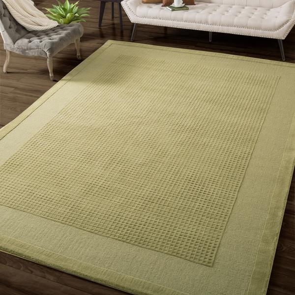 Shop Nourison Westport Hand Tufted Sage Wool Rug 8 X 10