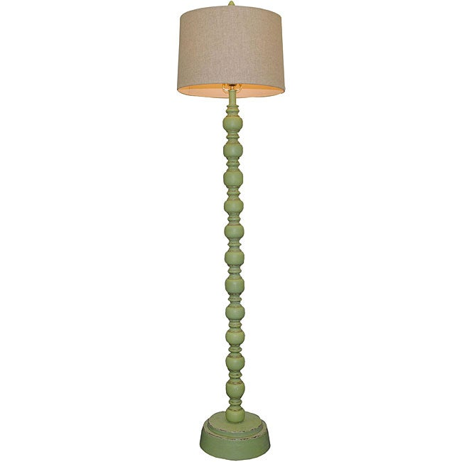 Luisito 1-light Green Wooden Floor Lamp