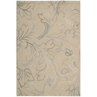 Nourison Sorrento Natural Floral Wool Rug (8' x 10')