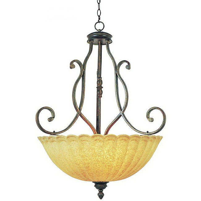 Century 3-light Bowl Pendant
