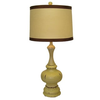 Cream Classic Pawn Wooden Table Lamp