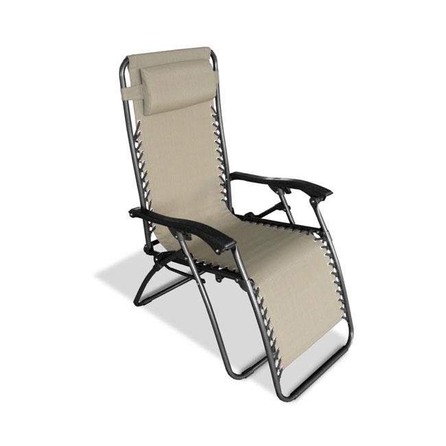 Caravan Sports Beige Zero Gravity Chair