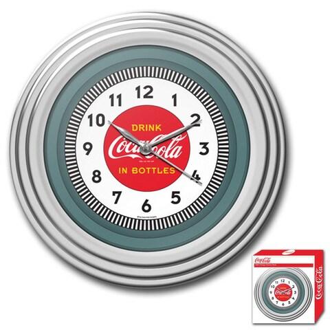 1930s Style Coca-Cola Chrome Wall Clock