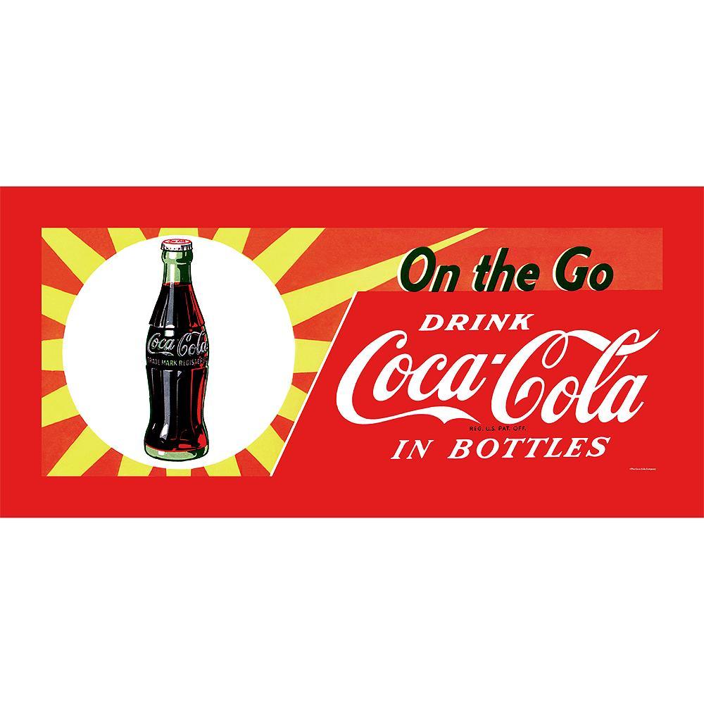 'On the Go Coca Cola' Traditional Medium Horizontal Framed Canvas Art