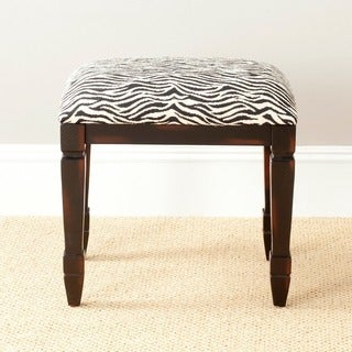 Safavieh Gertie Small Zebra-print Bench