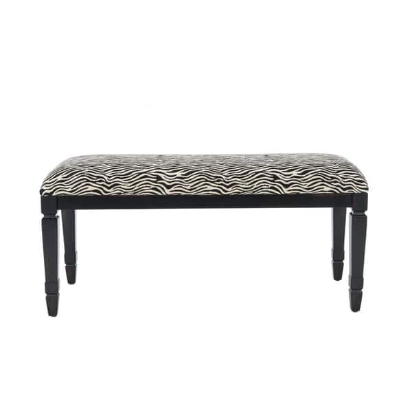 Pleasing Shop Safavieh Mona Zebra Print Bench Free Shipping Today Machost Co Dining Chair Design Ideas Machostcouk
