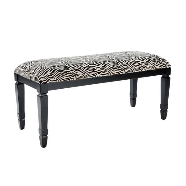 Enjoyable Shop Safavieh Mona Zebra Print Bench Free Shipping Today Machost Co Dining Chair Design Ideas Machostcouk