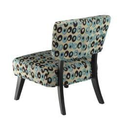 Safavieh Lynn Oval Print Blue/ Brown Lounge Chairs (Set of 2)