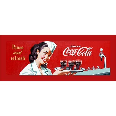 Vintage Coca Cola Stretched Canvas Wall Art
