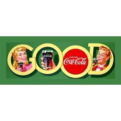 Thumbnail 2, Vintage Coca Cola Stretched Canvas Wall Art. Changes active main hero.