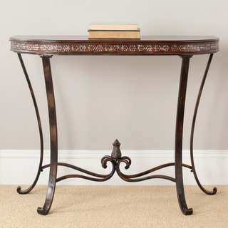 Safavieh Richard Demilune Brown Wood Console