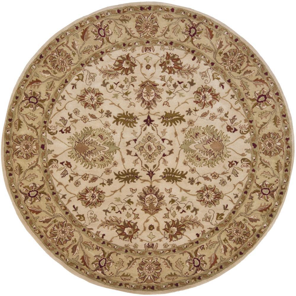 Hand-tufted Mandara Ivory Oriental Wool Rug (7'9 Round)