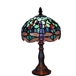 Superbe Tiffany Style Dragonfly Table Lamp